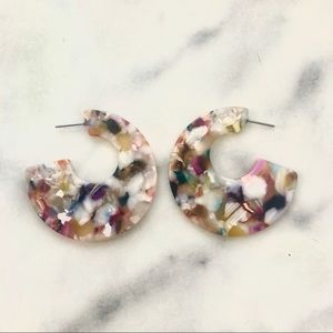 Colorful Resin Acrylic Earth Tone Earrings